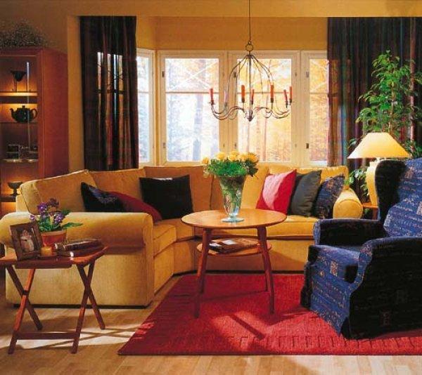Polštáře a dekorace - obývací pokoj