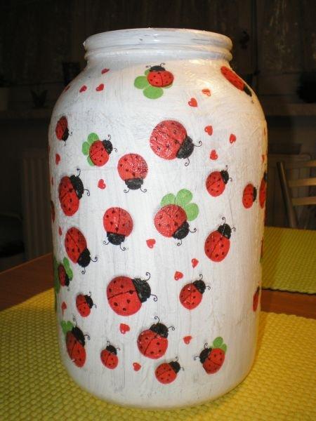 moje večerní tvoření-váza