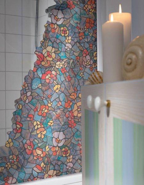Koupelna folie na sklo