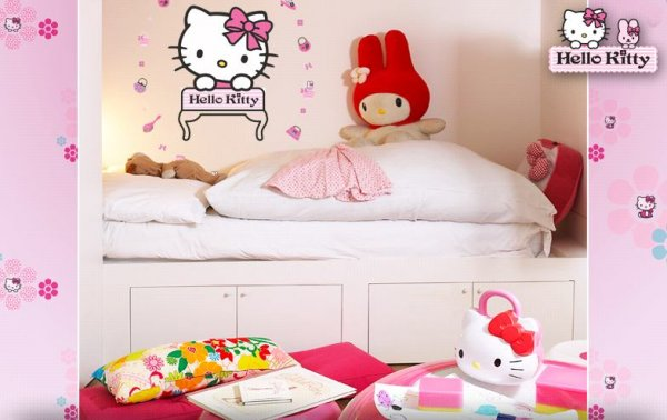 Pokojíček s Hello Kitty