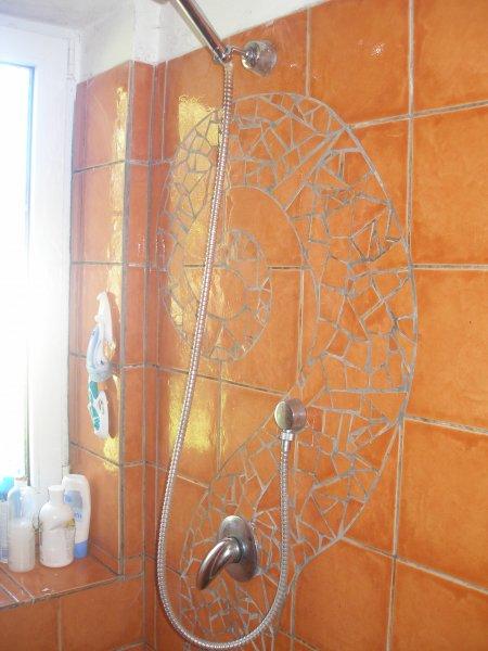 mozaika sprchový kout