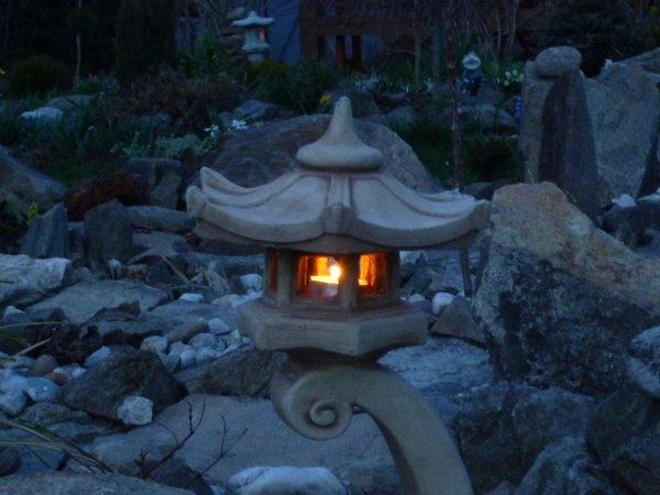 večer v japonské zahradě