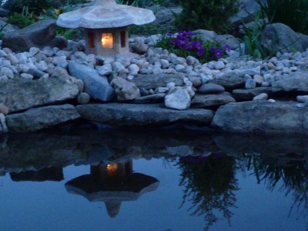 večer v zahradě