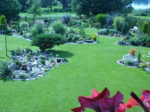 pohled na zahradu z okna