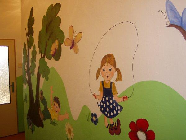 malba na zeď školka