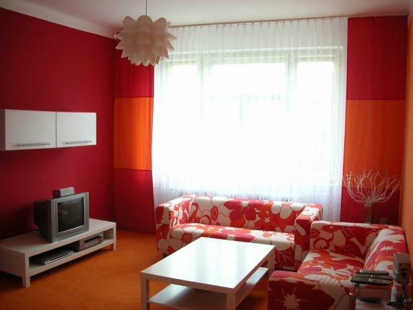 Červené nápady - textil bytový