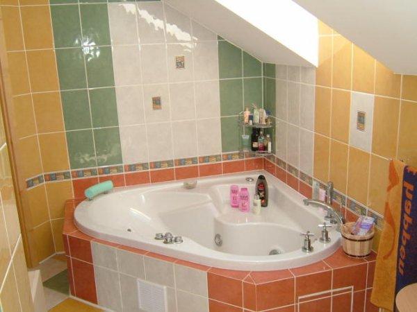 Pestrobarevná koupelna