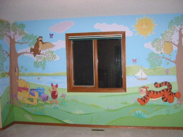 stěny dětského pokoje - dekorace