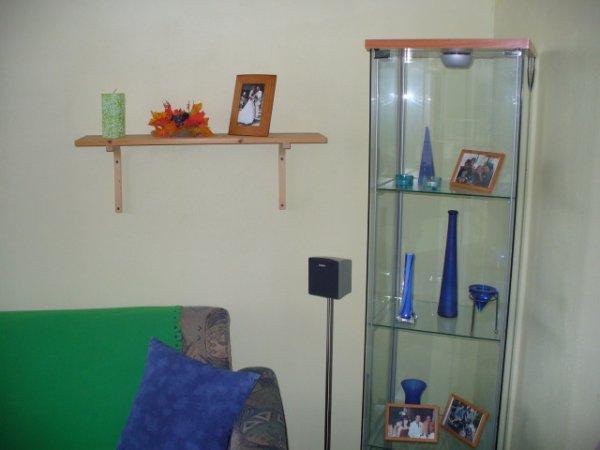 roh obývacího pokoje