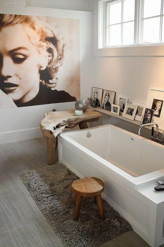 retro koupelna v industriálním stylu
