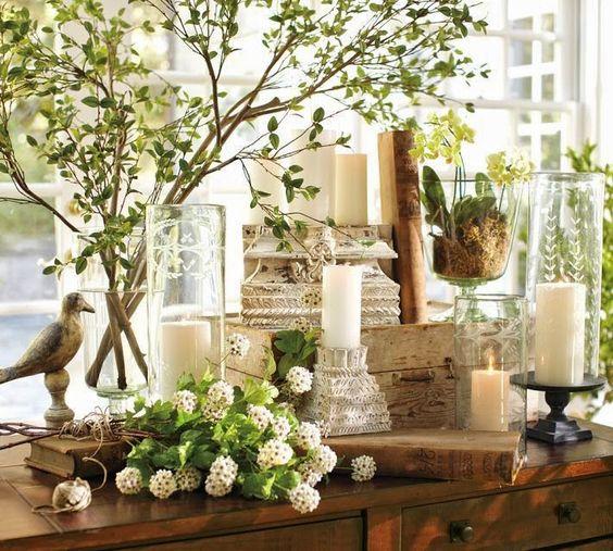 velikonoční dekorace v provence stylu