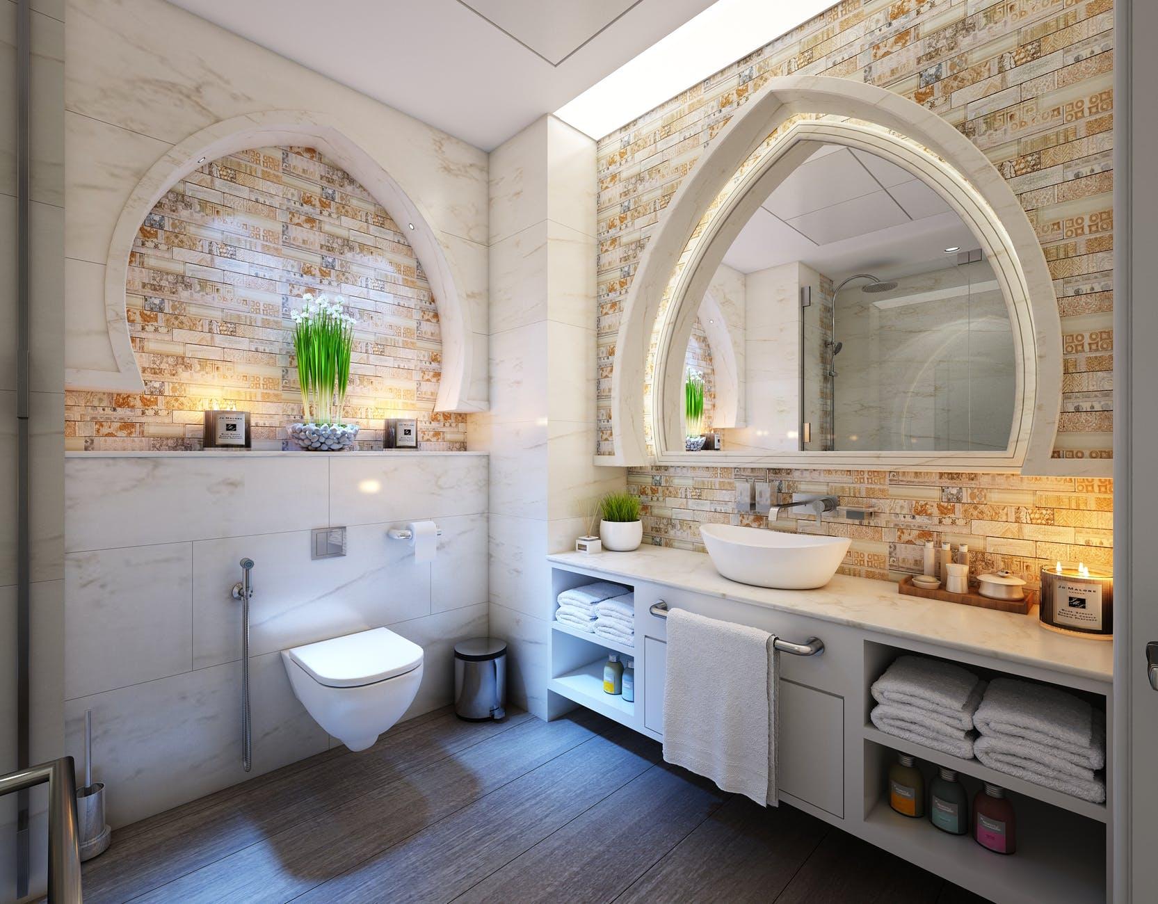 Ladící koupelna může vypadat naprosto dokonale