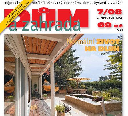 Červencové číslo časopisu Dům a zahrada na stáncích