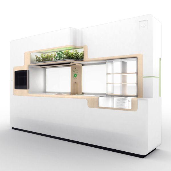 Zelená kuchyně pro příznivce bio stylu