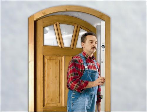 Montáž domovních dveří