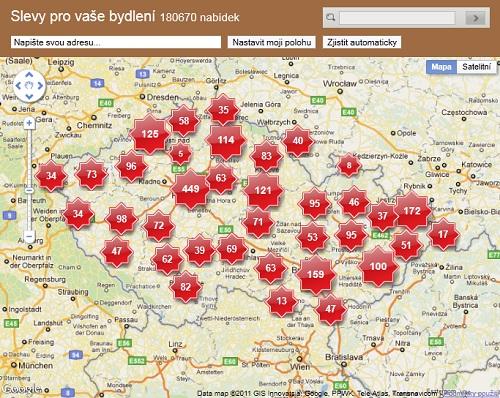 Interaktivní mapa na našich stránkách