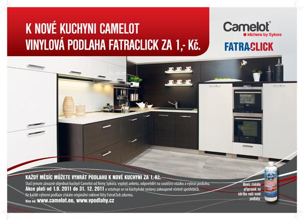 K nové kuchyni Camelot vinylová podlaha FatraClick za 1,- Kč!