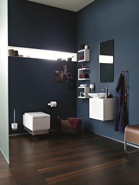 Velkorysý design malé koupelny