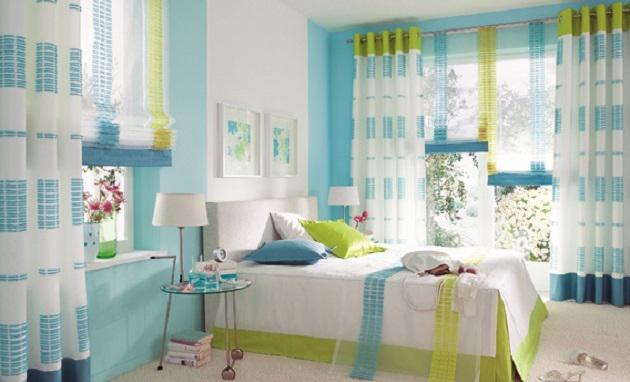 Využití modré barvy v bydlení