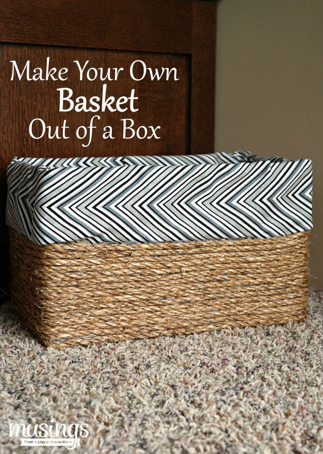 Košík na drobnosti z krabice od bot