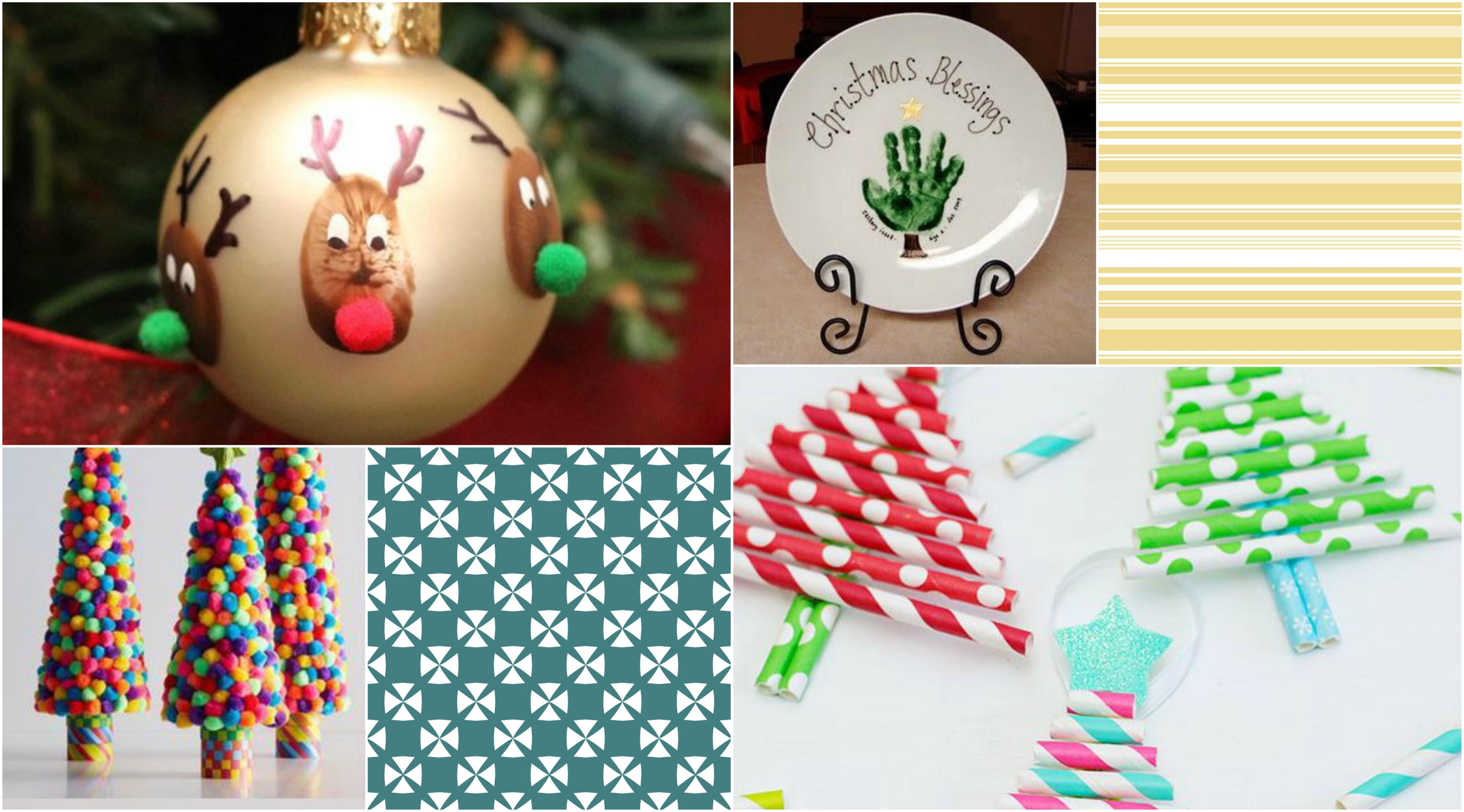 9 jednoduchých vánočních dekorací, při jejichž výrobě vám mohou asistovat děti