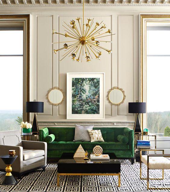 Interier v Art Deco stylu: Elegantní geometrie, lesk a třpyt