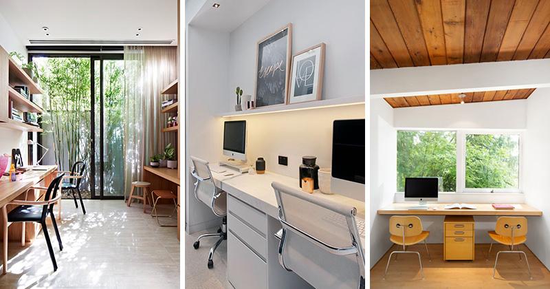 15 nápadů domácích kanceláří pro páry