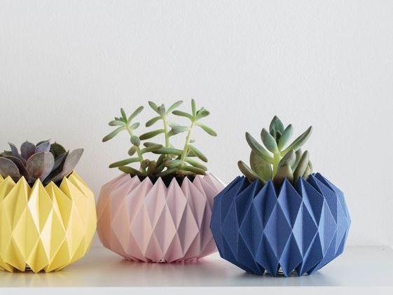 DIY nápad: Origami obaly na květináče