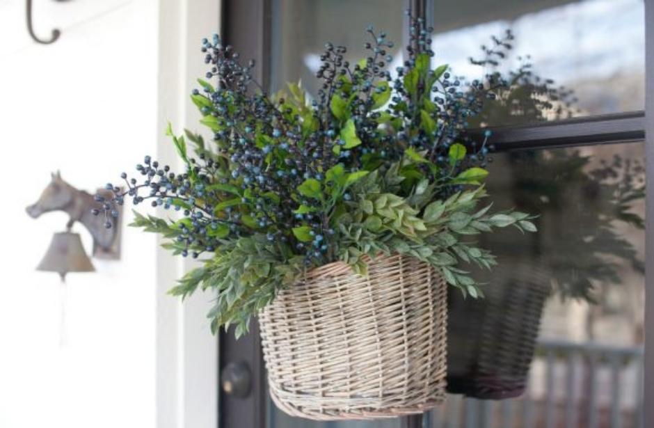 Jarní dekorace na dveře