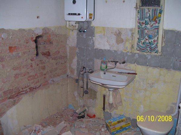 moje koupelna při rekonst