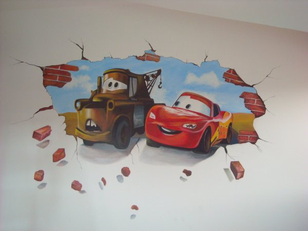 Malba v chlapeckém pokoji