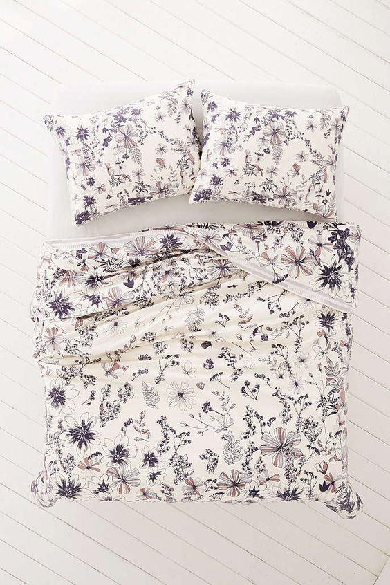 vzorované ložní prádlo