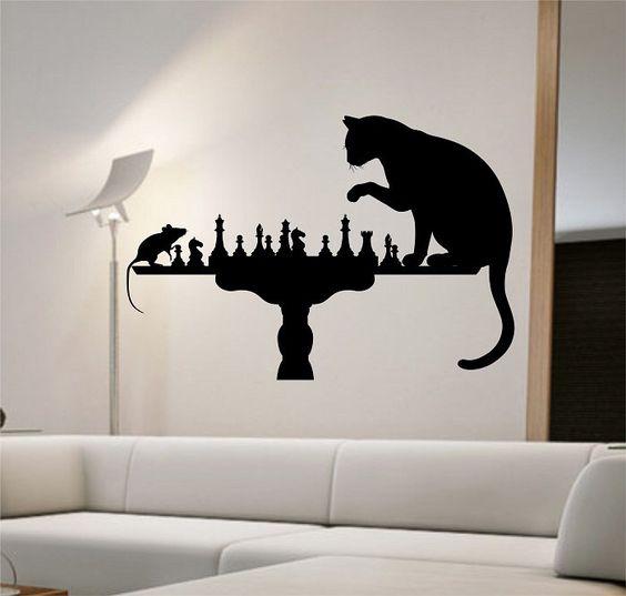 interiér v šachovém stylu