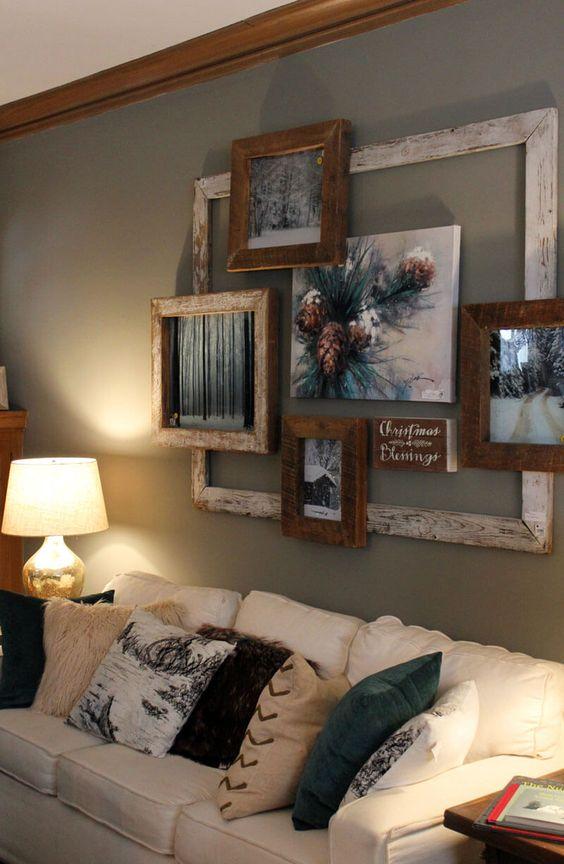 dekorace na stěnu z fotografií