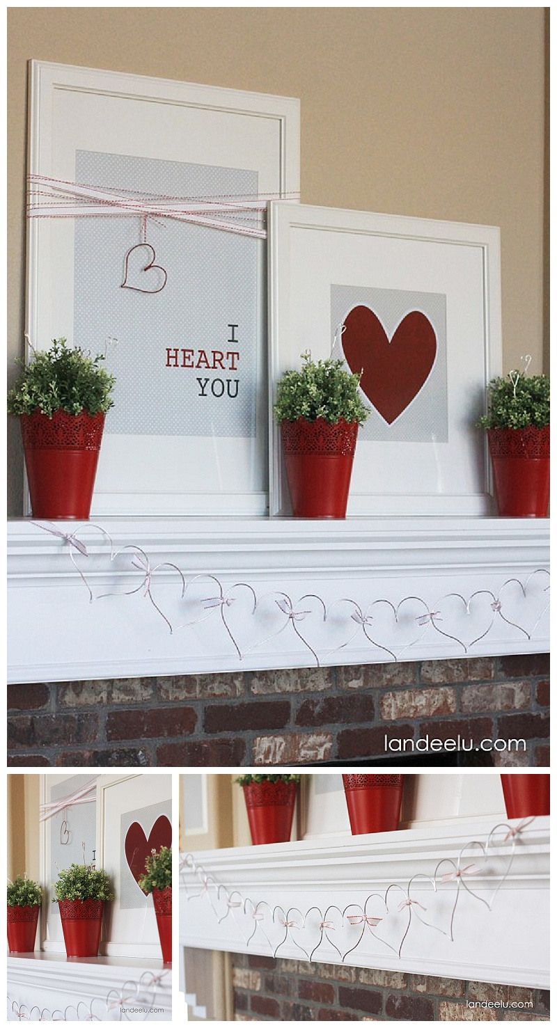 DIY valentýnské dekorace