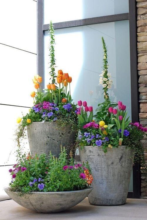 jarní dekorace pro balkóny a terasy