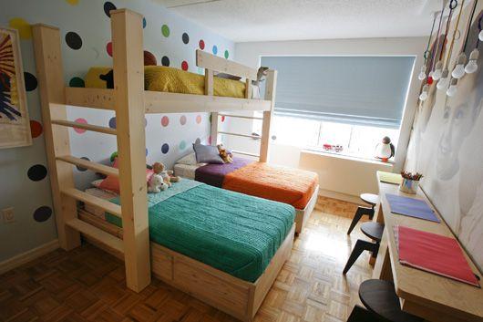 pokoj pro tři děti