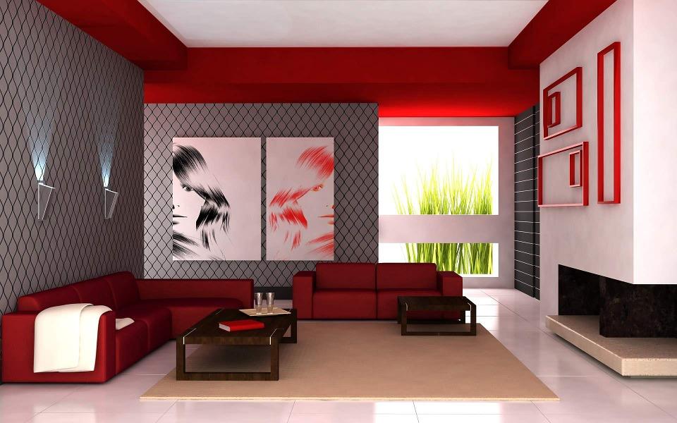 barevné hry v obýváku